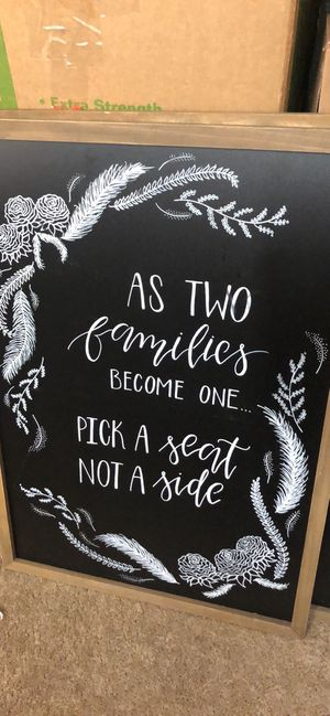 """Wedding sign """"pick a seat not a side"""" for Sale in Edmonds, WA"""