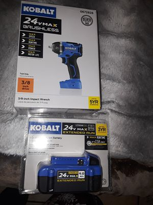 Kobalt 24V battery and 3/8 impact wrench for Sale in Fresno, CA