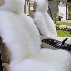 Sheep Fur Car Seats ALL WHITE FOR DRIVER AND PASSANGER for Sale in San Jose, CA