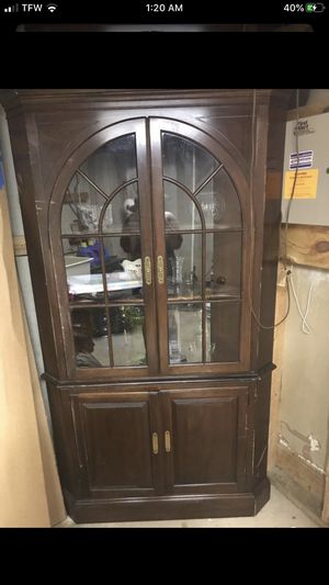 antique wooden china cabinet for Sale in Germantown, MD