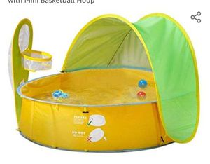 Eleovo Baby Beach Tent, 3 in 1 Pop Up Baby Pool for Baby, UV Protection Sun Shelters, Portable Kids Ball Pit Play Tent Indoor for Sale in Bakersfield, CA