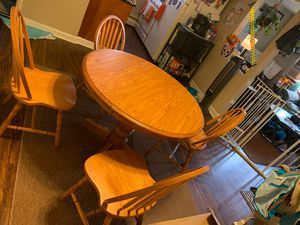 Kitchen table with 4 chairs for Sale in Depew, NY
