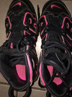 Nike Air uptempo black pink blast for Sale in Washington, DC