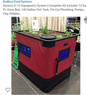Aquaponics System | Complete Kit Includes 12 Sq. Ft. Grow Bed, 140 Gallon Fish Tank for Sale in Evergreen Park, IL