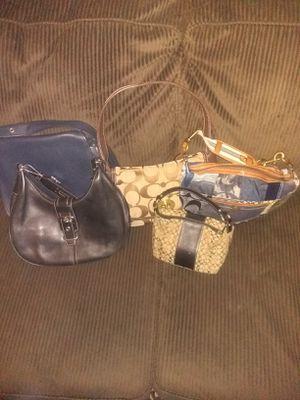 5 designer coach handbags for Sale in Stone Mountain, GA