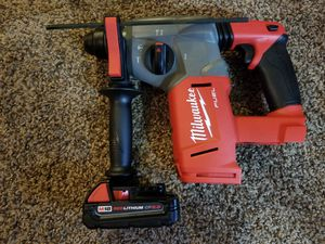Milwaukee M18 FUEL 18-Volt Lithium-Ion Brushless Cordless 1 in. SDS-Plus Rotary Hammer with 2.0Ah Battery for Sale in Modesto, CA
