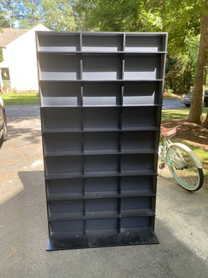 144 DVD and CD rack in black and silver for Sale in Midlothian, VA