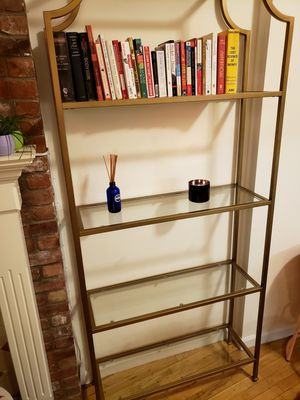 Tall metal and glass book shelves for Sale in Brooklyn, NY