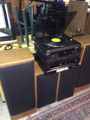 Stereo record player sound system for Sale in Smithfield, NC