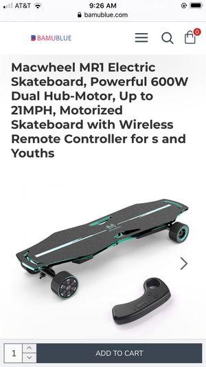 Macwheel electric skateboard for Sale in Pasco, WA