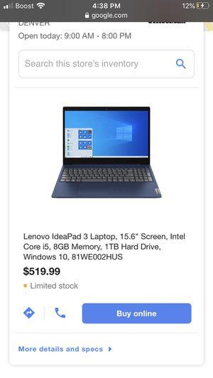 Laptop I5 Lenovo for Sale in Aurora, CO