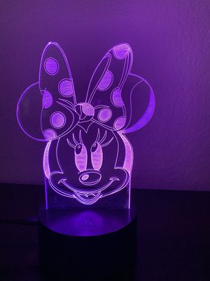 Beautiful Minnie 3d lamp for Sale in Las Vegas, NV