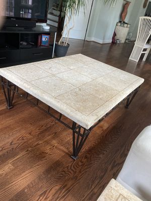 Large stone top coffee table for Sale in Washington, DC