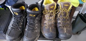 Mens work steel toe boots , Keen and CAT for Sale in Valrico, FL