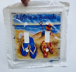 Life's A Beach Light Switch Fixture Cover for Sale in Wells,  ME