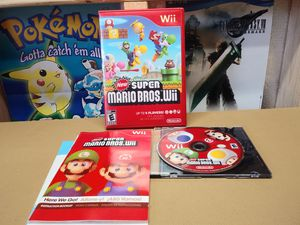 New Super Mario Bros. Wii (Nintendo Wii, 2009) Complete With Inserts And Manual for Sale in Palmdale, CA