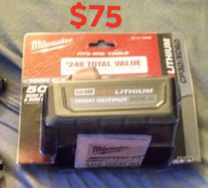 Milwaukee1/2 impact fuel brand new 6.0 battery for Sale in Cleveland, OH