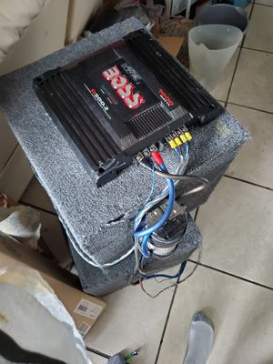 2 kenwood 10 inch speakers with amp $180 for Sale in Seminole, FL