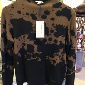 BURBERRY BRIT Intarsia Wool Sweater w/ Tags Size: M for Sale in Temple City, CA