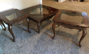 Coffee table with 2 end tables for Sale in Abilene, TX