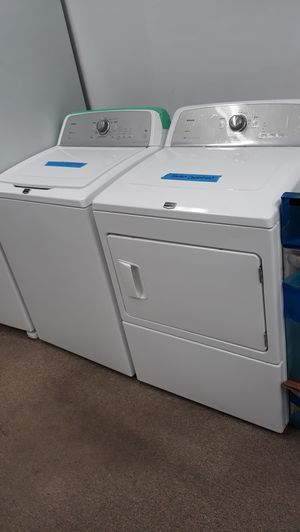Maytag white top load washer and dryer set excellent condition like new for Sale in Maryland City, MD