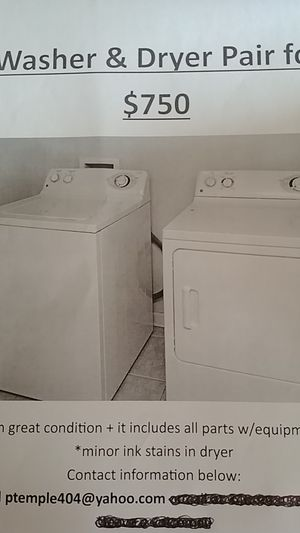 GE Washer & Dryer pair for Sale in Montgomery, AL