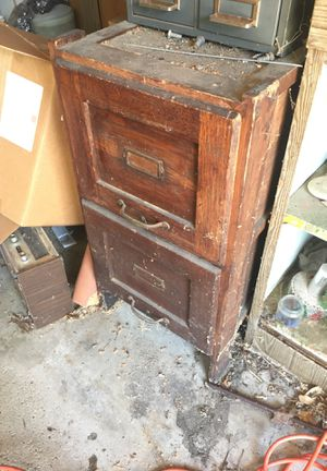 Antique file cabinet for Sale in Schaumburg, IL