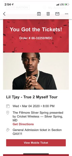 Lil Tjay Concert for Sale in Silver Spring, MD