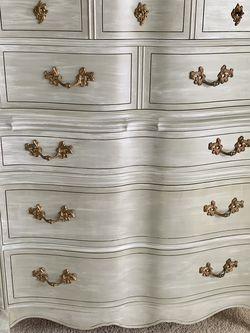 Vintage Gray/White Dresser for Sale in Burke,  VA