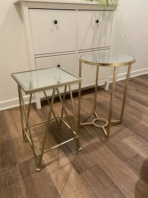 BEAUTIFUL Gold and brassy-gold END TABLES for Sale in Mission Viejo, CA