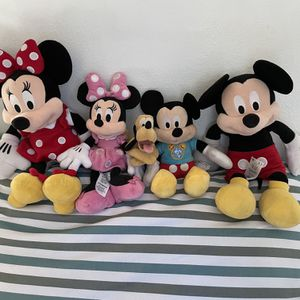 Mickey Mouse Family Plush Dolls for Sale in Lakewood, CA