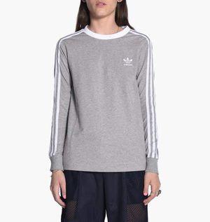 Adidas three stripe womens gray long sleeve tee sweatshirt XL NEW WITH TAGS for Sale in Brooklyn, NY