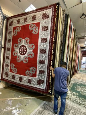 8x10 area Rugs carpet rugs Persian design super thick tight pile colors red gray white for Sale in Los Angeles, CA
