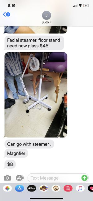 Facial steamer, floor stand , magnifier for Sale in Chicago, IL