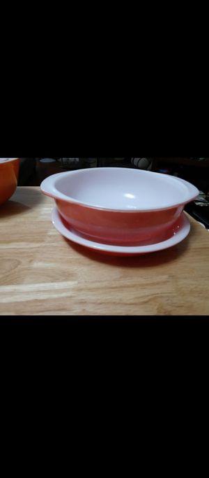 vintage pink pyrex bowl and saucer set $35 for Sale in Philadelphia, PA