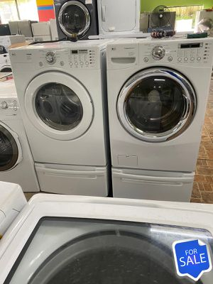 With Pedestals Washer Electric Dryer Set LG AVAILABLE NOW! #1568 for Sale in Orlando, FL