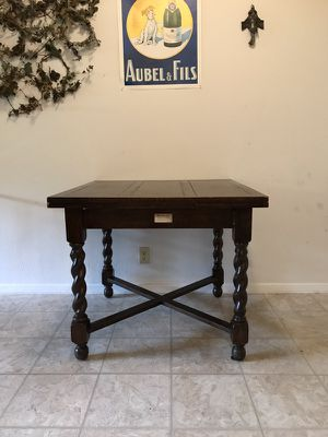 Antique Barley Twist Table and 4 Matching Chairs for Sale in Dallas, TX