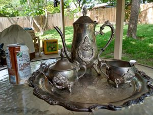 Antique silver plated ornate tea service for Sale in Austin, TX