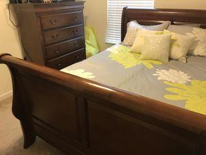 Bed Frame and Dresser for Sale in Glen Burnie, MD