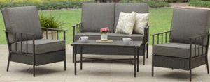 New!! 4 Piece Outdoor Conversation Set, gray, outdoor lounge furniture, patio furniture, patio set for Sale in Phoenix, AZ