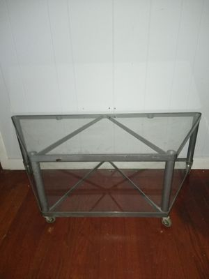 Glass table with wheels! for Sale in San Marcos, TX