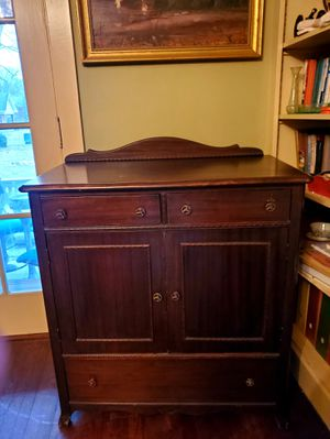 Antiques Rare 1930s Mahogany Linen Cabinet Vintage Furniture Chest Of Dresser Drawers for Sale in Cincinnati, OH