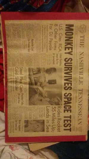 The actual Nashville Tennessean Newspaper from 1959 for Sale in Nashville, TN