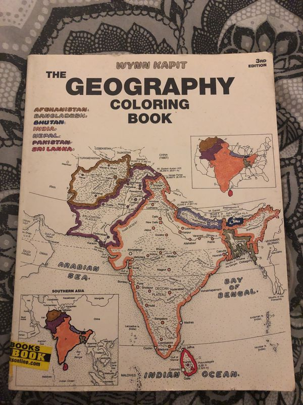 Thw geography coloring book for Sale in San Diego, CA - OfferUp