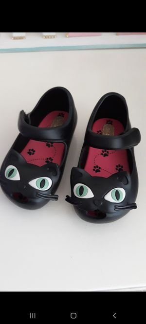 Black cat mini melissa shoes for Sale in San Pedro, CA