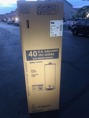 40 gallon gas water heater brand new for Sale in North Las Vegas, NV