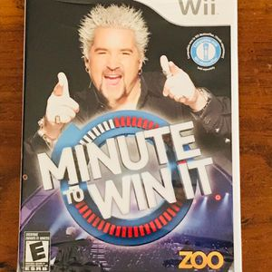 Nintendo Wii Minute To Win It Guy Fieri Video Game for Sale in Houston, TX