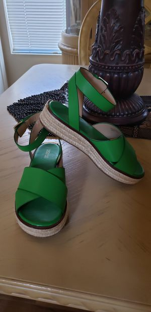 Michael Kors green women shoes Size 8 for $100 for Sale in Las Vegas, NV