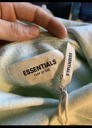 Fear of God Essentials Mint pullover hoodie Sz S Small for Sale in West Los Angeles, CA