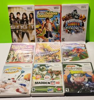 Nintendo Wii Game Lot (You get all 9) for Sale in Reinholds, PA
